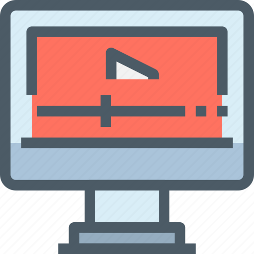 Media, online, computer, video, movie, technology icon