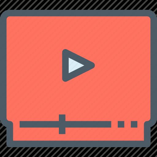Media, play, video, movie icon