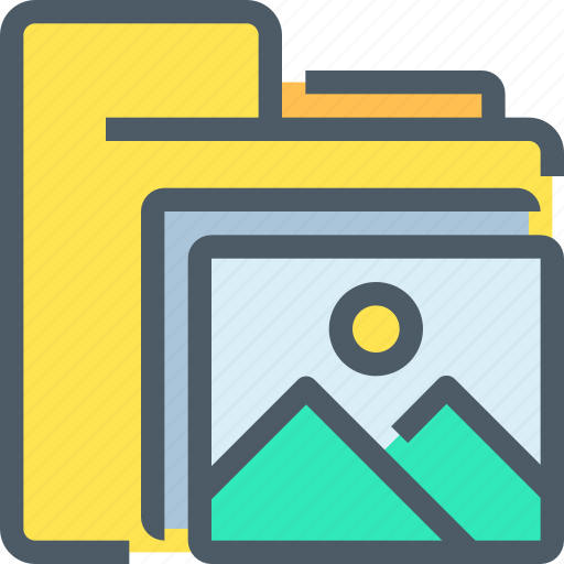 document, file, folder, media, office, photo icon