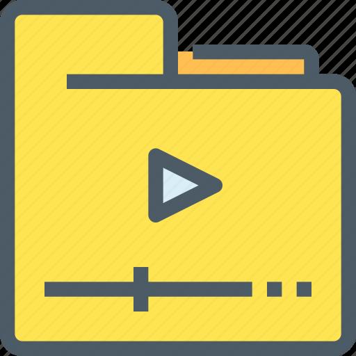 document, file, folder, media, movie, video icon