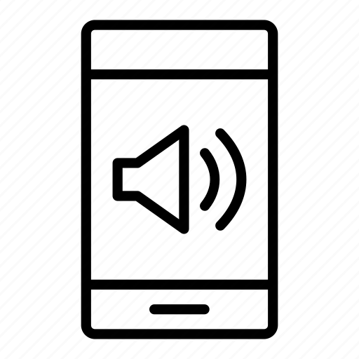 audio, mobile, multimedia, musicphone, phone, smartphone, sound icon