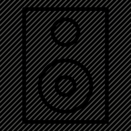 audio, multimedia, music, play, sound, speaker, woofer icon