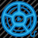cinema, film, footage, multimedia, video icon