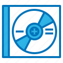 blue, cd, disk, dvd, multimedia, optical, ray icon