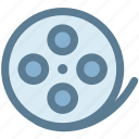 audio, cinema, film, film roll, movie, movie film, video icon