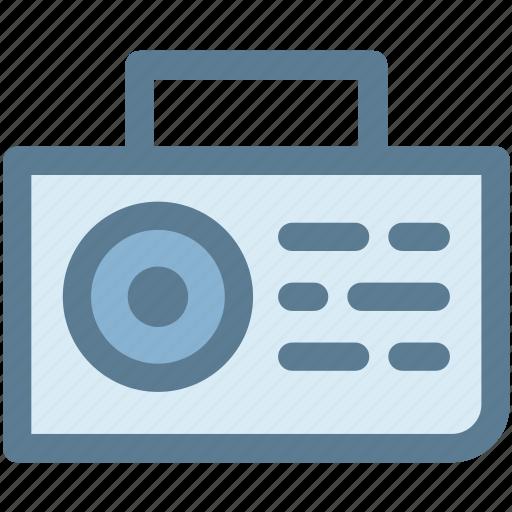 am, fm, multimedia, radio, stereo, transistor, tuner icon