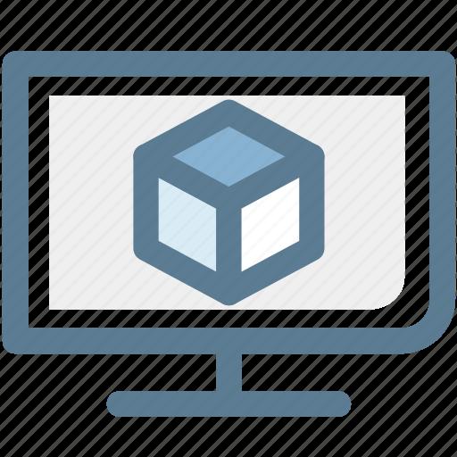 audio, box, monitor, multimedia, television, tv, video icon