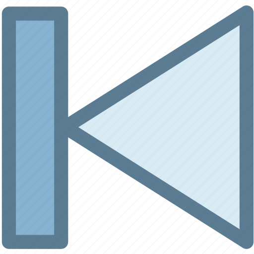 arrow, audio, back, first, left arrow, multimedia, previous icon