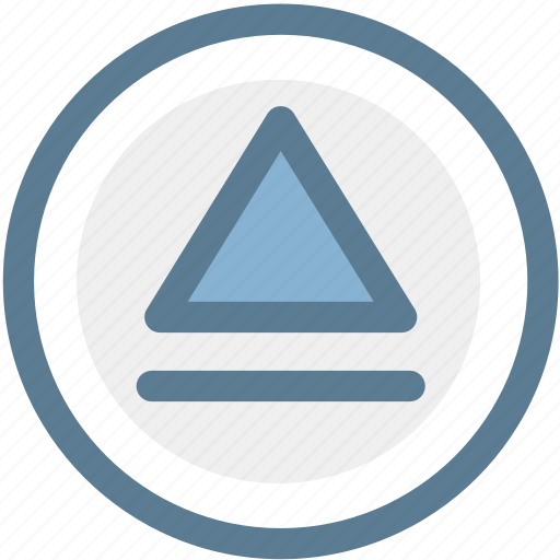 audio, dismiss, dump, eject, expel, force out, multimedia icon