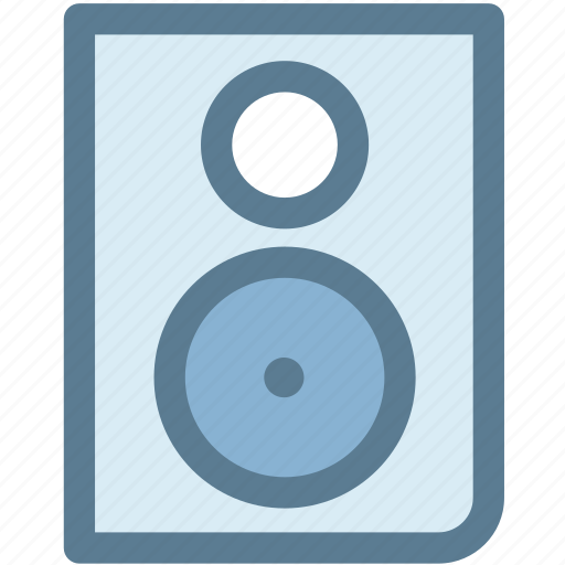 audio, computer speaker, hardware, multimedia, music speaker, speaker, speakers icon