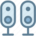 audio, computer speaker, hardware, multimedia, music speaker, speaker, speakers icon