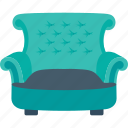 couch, furniture, sofa, settee, chair