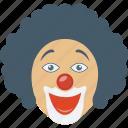 jester, clown face, clown, comedian, comic performer