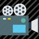 movie camera, professional movie camera, shooting, video recorder, video camera icon