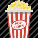 movie time, cinema food, entertainment, popcorns, snacks icon