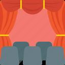 cinema, cinema auditorium, cinema hall, cinema house, film auditorium, movie theater icon