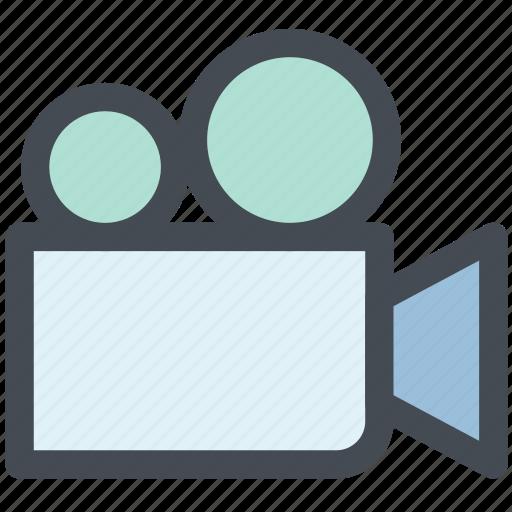 audio, cinema, film, multimedia, video, video camera, video chat icon