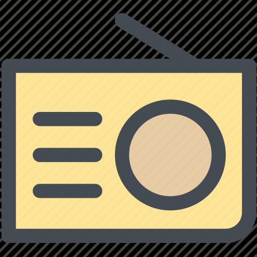 Am, fm, multimedia, radio, stereo, transistor, tuner icon - Download on Iconfinder