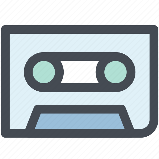 audio, cassette, cassette tape, multimedia, music, musictape, tape icon