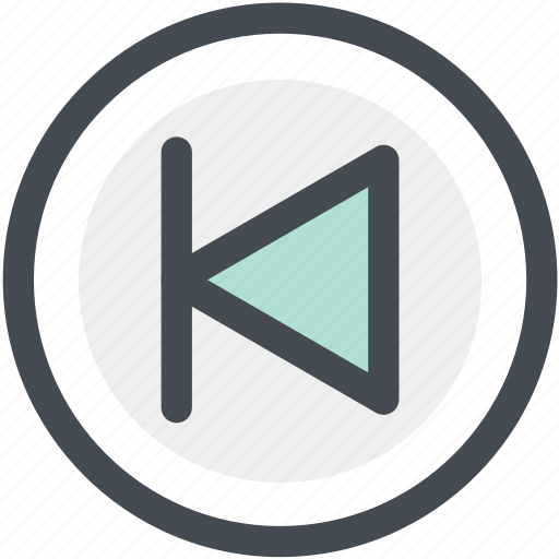 arrow, audio, back, first, left arrow, multimedia, previous icon