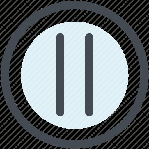 audio, break, multimedia, music, pause, stop, video icon