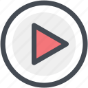 audio, multimedia, music, play, play button, sound, video icon