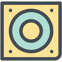 audio, computer speaker, hardware, music speaker, speaker, speakers icon