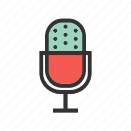 mic, microphone, music, sound, speaker, speech, stand icon