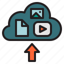 cloud, multimedia, server, storage, upload icon