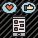 feed, like, love, media, multimedia, social
