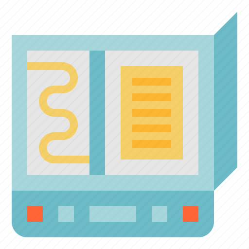 document, electricity, multimedia, paper, scanner icon