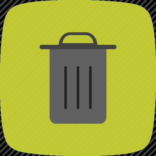 delete, dust bin, recycle bin icon