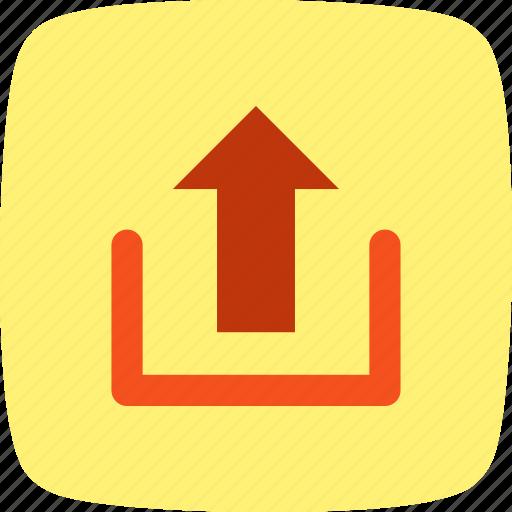 arrow, storage, up, upload icon
