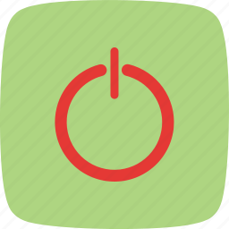 log out, power, shut down, sign out icon