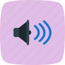 audio, media, multimedia, play, player, sound, volume icon