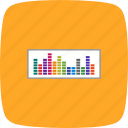 audio, equaliser, music, note, play, sound, sound beat icon