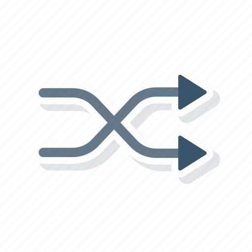 arrows, mix, random, shuffle icon