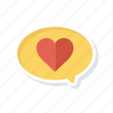 bubble, chat, comment, heart icon
