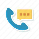 call, communication, phone, talk icon