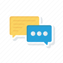 chat, communication, discussion, message icon