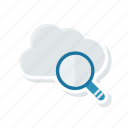 cloud, magnifier, search, server icon