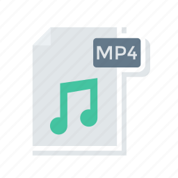 document, file, mp4, music icon