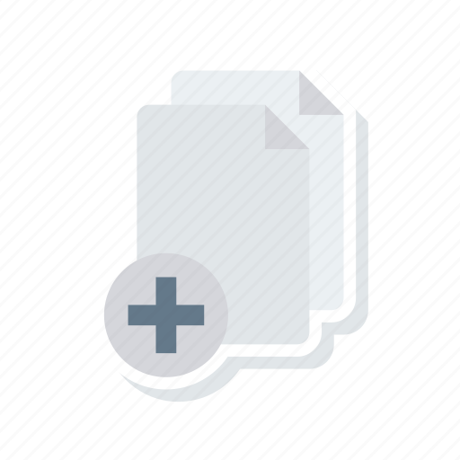 add, document, files, pages icon