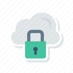 cloud, lock, protect, secure icon