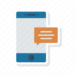 comment, message, mobile, text icon