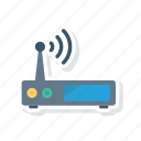 internet, modem, router, wireless icon