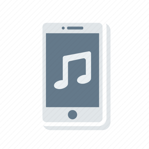 device, mobile, music, song icon