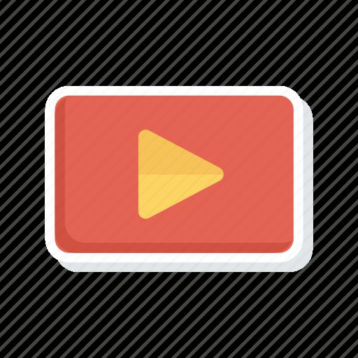 media, play, stream, video icon