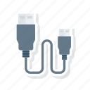 cable, electronics, usb, wire icon