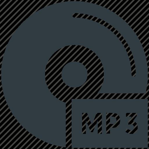 audio cd, audio file, mp3, mp3 cd, mp3 file icon